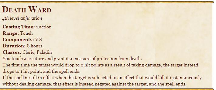 Death Ward 5E Spell
