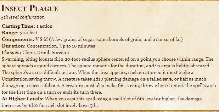 Insect Plague 5E