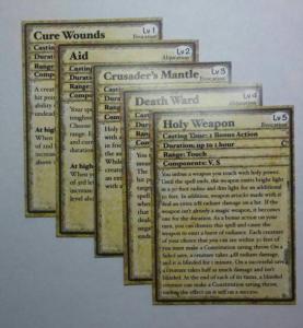 Spell Cards 5e