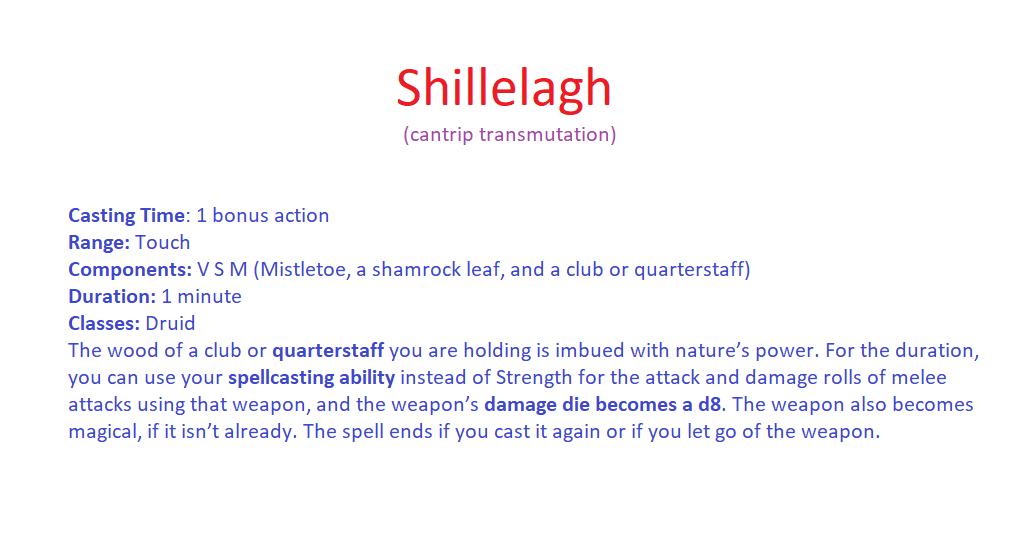 Shillelagh D&D 5th Edition