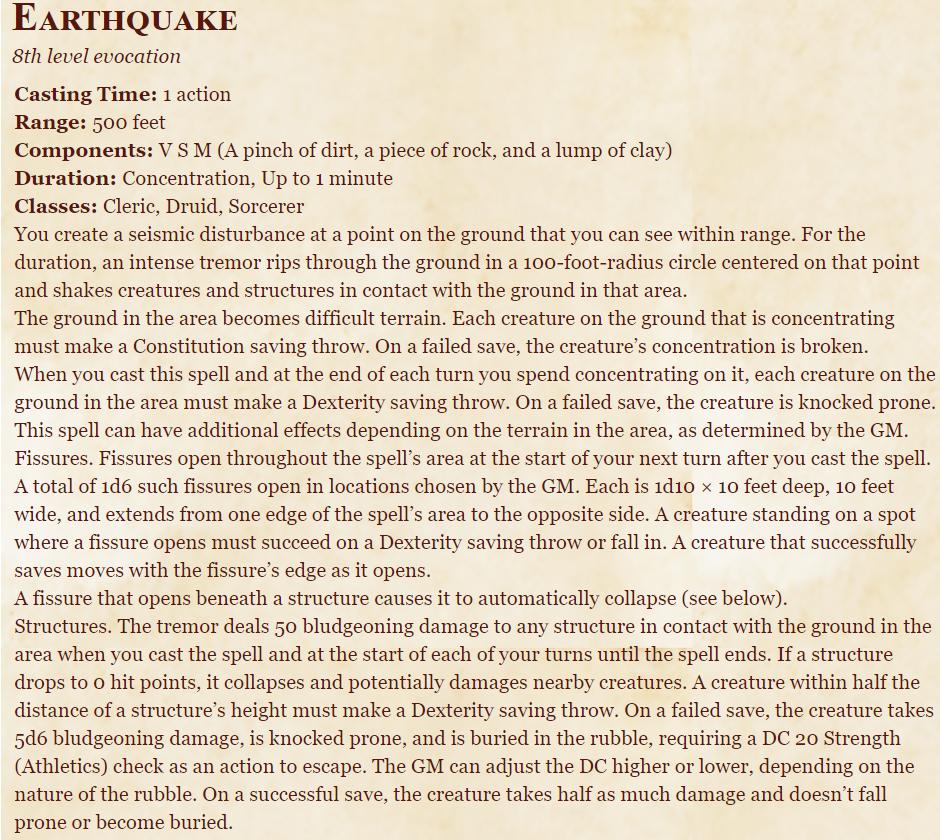 Earthquake 5e (5th Edition)